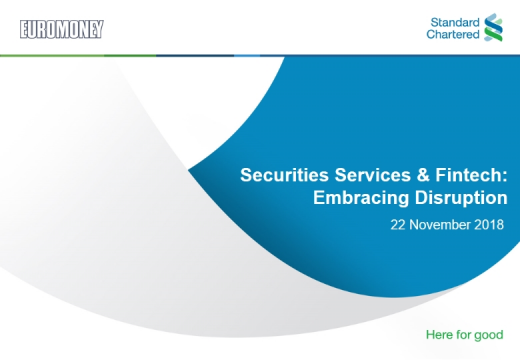 Securities Services and Fintech: Embracing Disruption