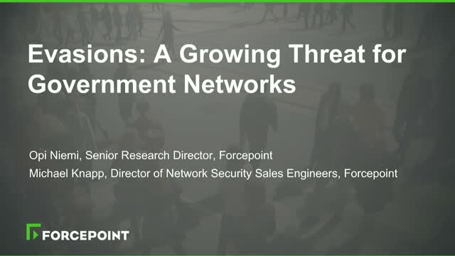 Evasions: A Growing Threat for Government Networks