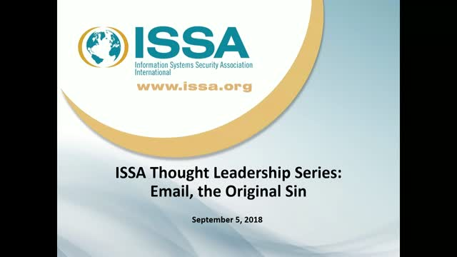 ISSA Thought Leadership Series: Email, the Original Sin