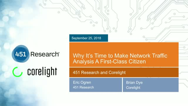 Why It's Time to Make Network Traffic Analysis A First-Class Citizen