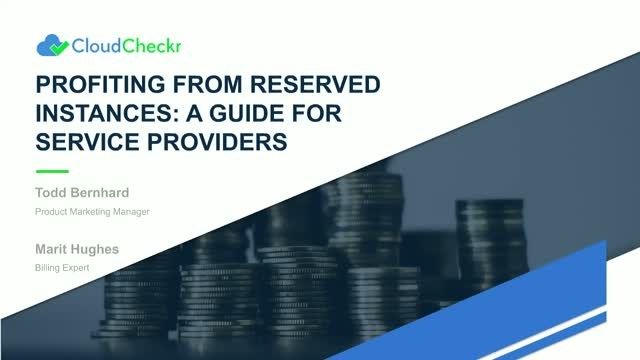 Profiting from Reserved Instances: An RI Guide for Service Providers & Resellers