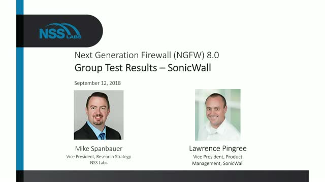Next Generation Firewall (NGFW) 8.0 Group Test Results – SonicWall