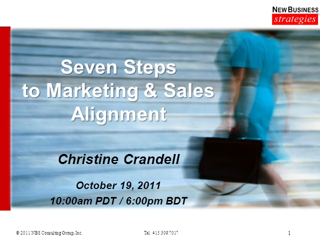 Seven Steps to Marketing and Sales Alignment