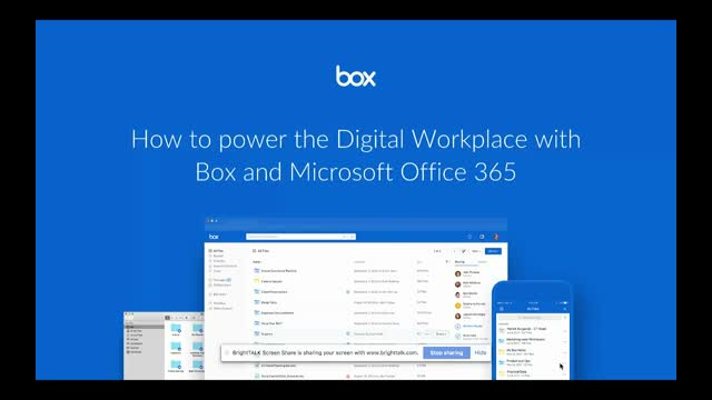 how to power the digital workplace with box and office 365