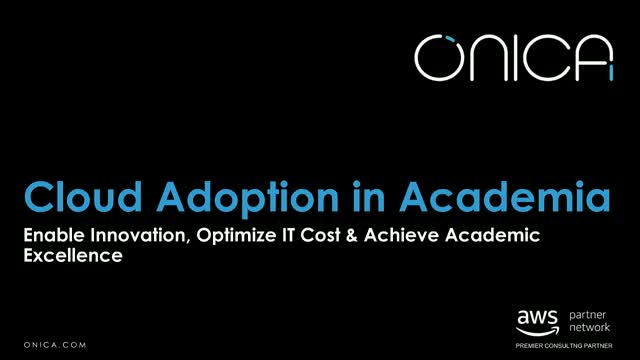 Cloud Adoption in Academia Webinar