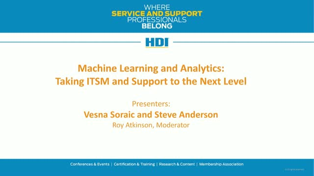 Machine Learning and Analytics: Taking ITSM and Support to the Next Level