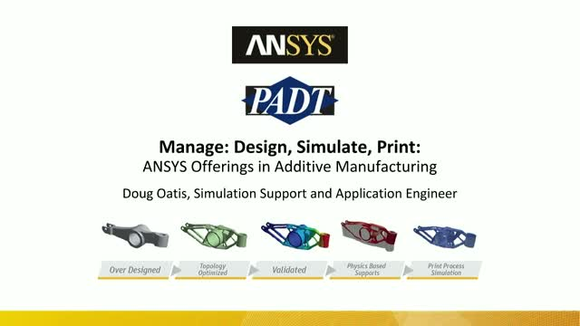 Design, Simulate, Print: ANSYS Offerings in Additive Manufacturing