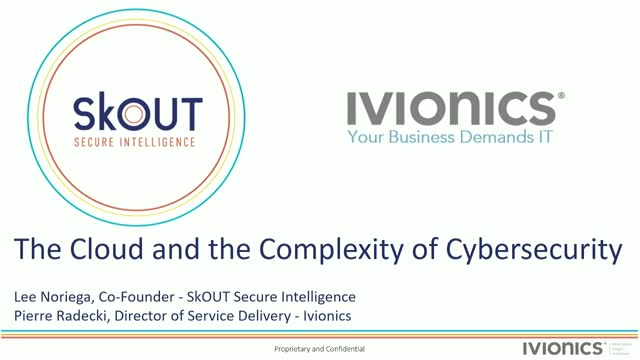 Data Security in the Cloud, with Ivionics and SkOUT Secure Intelligence