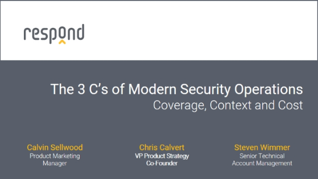 The 3 C's of Modern Security Operations - Coverage, Context, and Cost