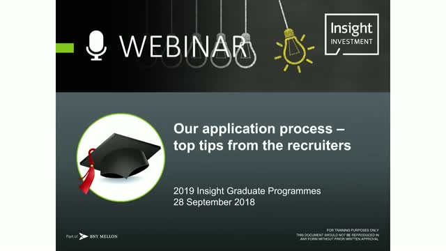 2019 Insight Graduate Programmes: our application process