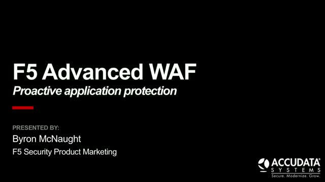 Secure Web Apps from Attacks with Advanced WAF