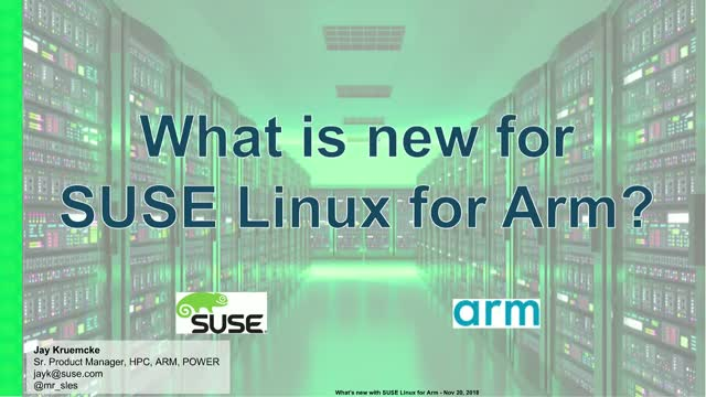 What's New with SUSE Linux for Arm