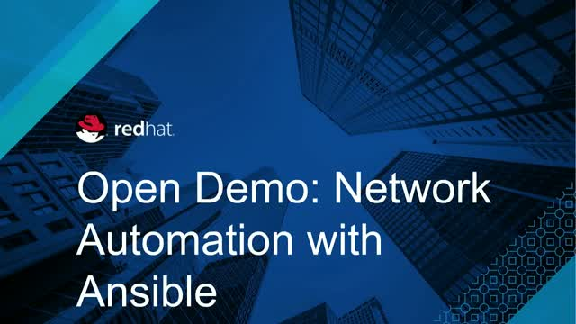 OpenDemo: Network Automation with Ansible Aug. 21