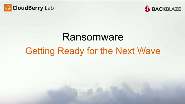 Ransomware: Getting ready for the next wave