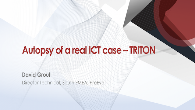 Autopsy of a real ICT case – TRITON