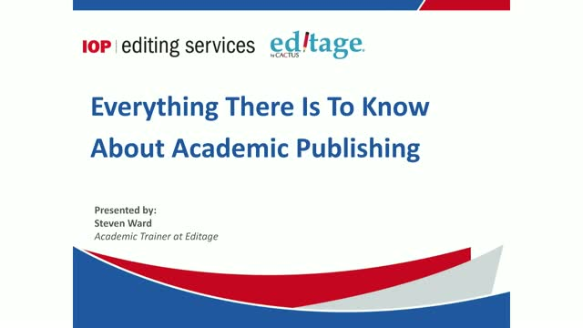 Everything you need to know about academic publishing