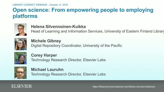 Open science: from empowering people to employing platforms