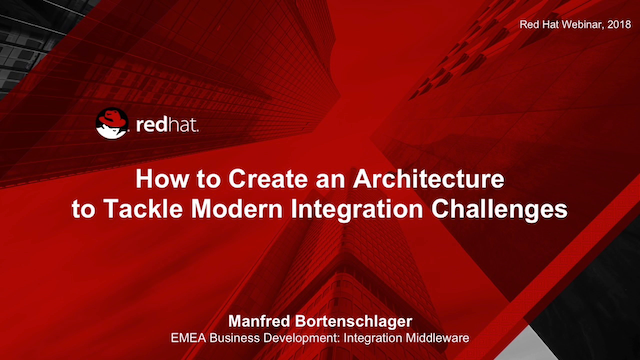 How to Create an Architecture to Tackle Modern Integration Challenges