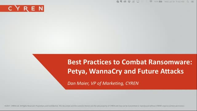Best Practices to Combat Ransomware: Petya, WannaCry and Future Attacks