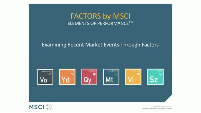 Examining recent market events through factors