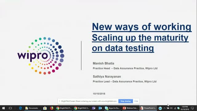 Data Assurance to Data Engineering - Wipro Ltd