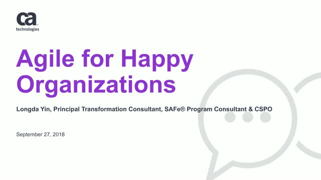 Agile for Happy Organizations