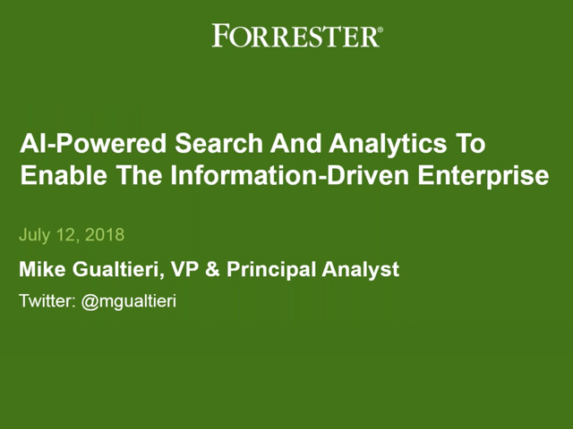 Webcast : How AI-Powered Search & Analytics Enables the Information-Driven