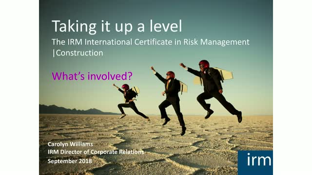 Build your career in risk - Construction