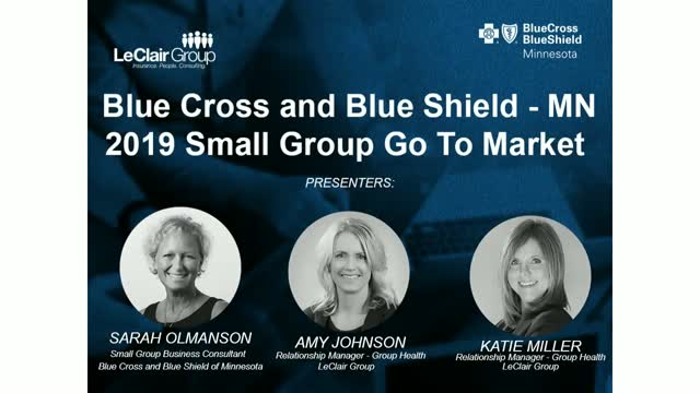 BCBS 2019 Small Group Go To Market