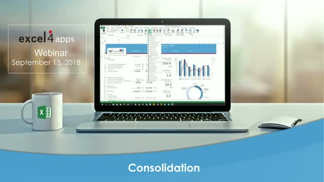 Period End Consolidation with Excel4apps