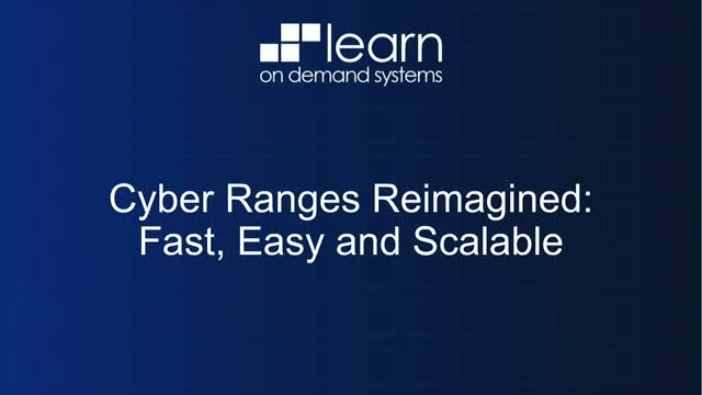 Cyber Ranges Reimagined: Fast, Easy & Scalable