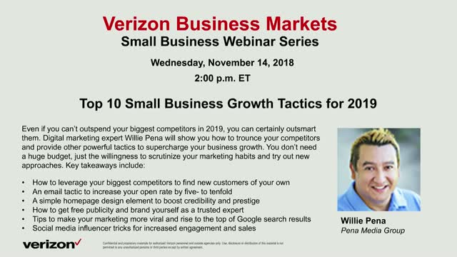 Top 10 Small Business Growth Tactics for 2019