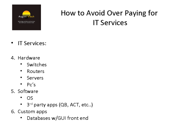 Avoid Over-Paying When Purchasing Technology and Services