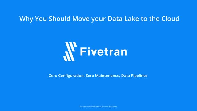 Why You Should Move Your Data Lake to the Cloud