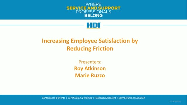 Increasing Employee Satisfaction by Reducing Friction