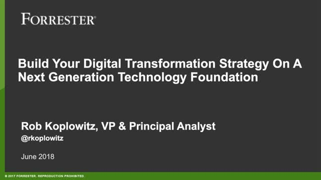 Dropbox + Forrester Webinar: Building Your Digital Transformation Strategy