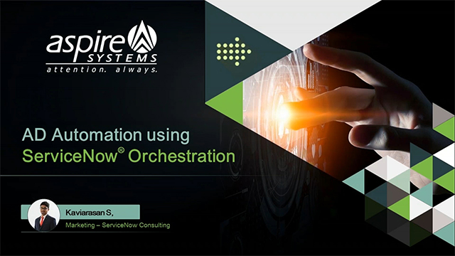 AD Automation using ServiceNow Orchestration [Demo]