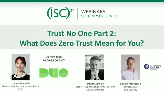 Trust No One Part 2.  What Does Zero Trust Mean for You?