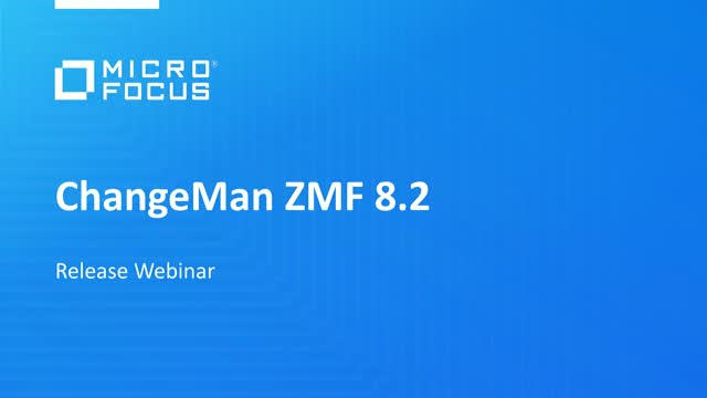 Fast, secure and controlled software delivery with Micro Focus ChangeMan ZMF 8.2