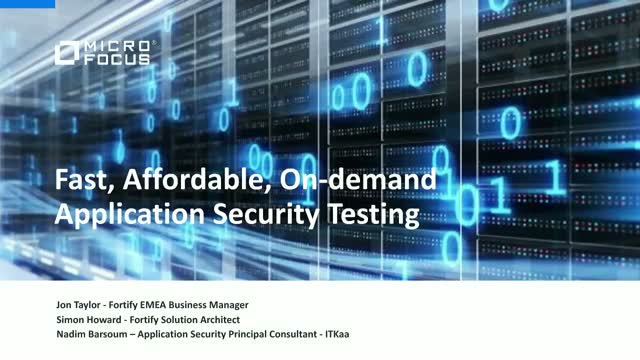 Fast, affordable, on-demand application security testing