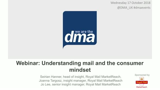 Webinar: Understanding mail and the consumer mindset