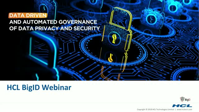 Data Governance at the Crossroads of Security & Privacy: BigID & HCL Webinar