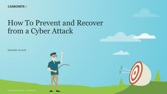 How To Prevent and Recover from a Cyber Attack