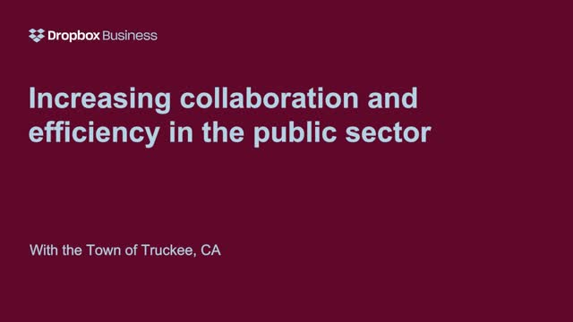 Increasing Collaboration and Efficiency in the Public Sector