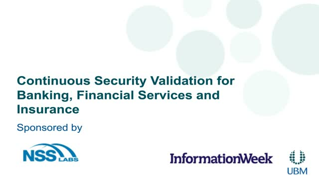 Continuous Security Validation for Banking, Financial Services and Insurance
