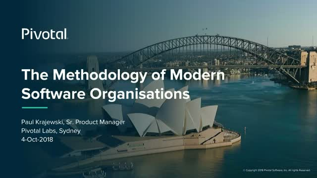 The Methodology of Modern Software Organisations