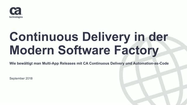 Wie bewältigt man multi-App Releases mit CA Continuous Delivery und Automation