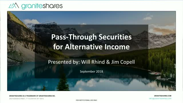Pass-Through Securities For Alternative Income