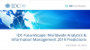 IDC FutureScape: Worldwide Analytics & Information Management 2019 Predictions
