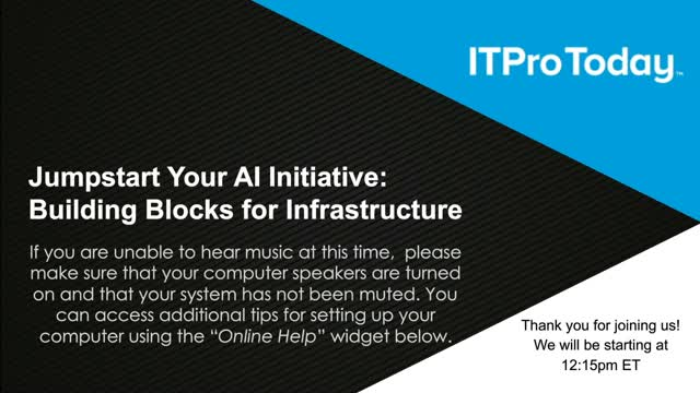 Jumpstart Your AI Initiative: Building Blocks for Infrastructure